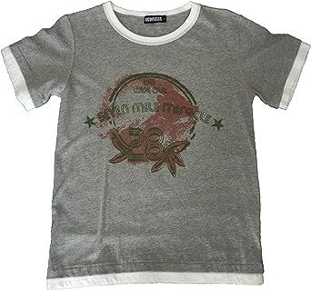 NEWNESS - Camisetas Manga Corta - para niño Gris 14 años ...