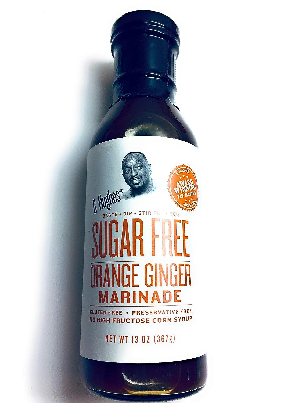 G Hughes Sugar Free Orange Ginger Marinade Sauce Dip BBQ No High Fructose 13 oz. (Pack of 1)