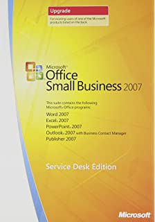 microsoft office small business 2007 upgrade service desk edition