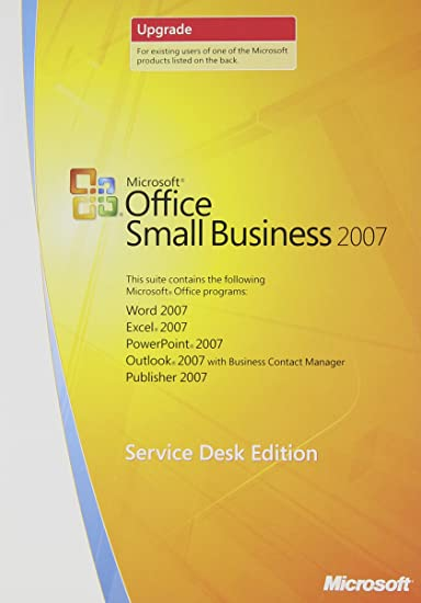 Microsoft Office Upgrade >> Amazon Com Microsoft Office Small Business 2007 Upgrade Service