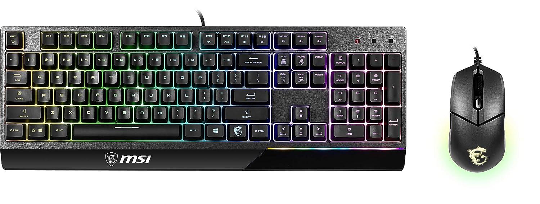Vigor GK30 Combo US MSI Vigor Backlit RGB Dedicated Hotkeys Anti-Ghosting Mechanical Feel Gaming Keyboard /& Gaming Mouse Combo