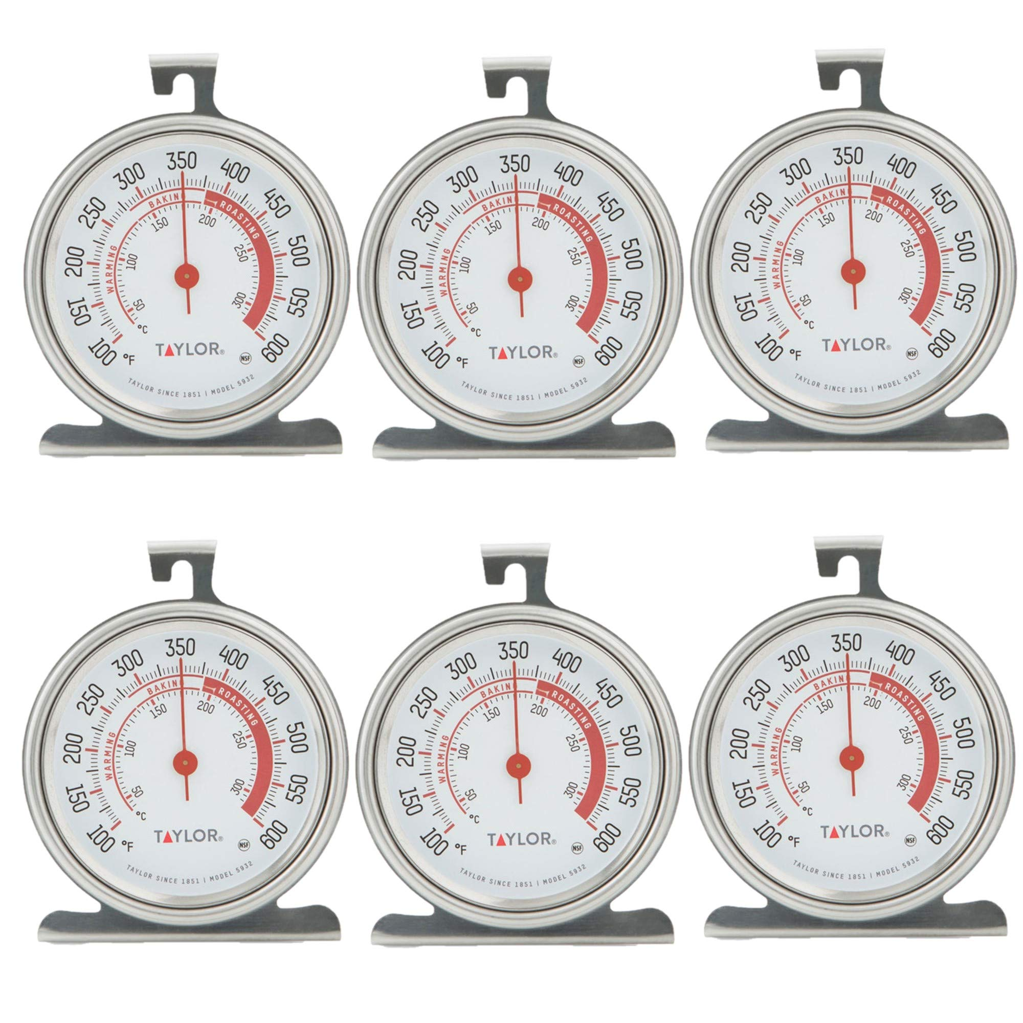 Taylor Classic Series Large Dial Oven Thermometer (6) by Taylor Precision Products
