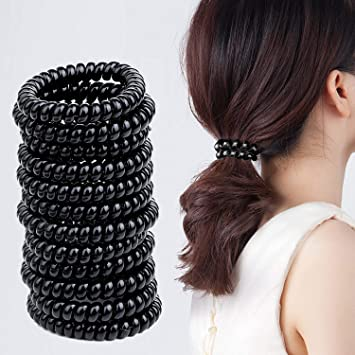 20 Snag Free Mini Hair Bobble Endless Ponytail Scrunchies Ties Band Elastic