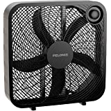 PELONIS PFB50A2ABB-V 3-Speed Box Fan for Full-Force Circulation with Air Conditioner, Black