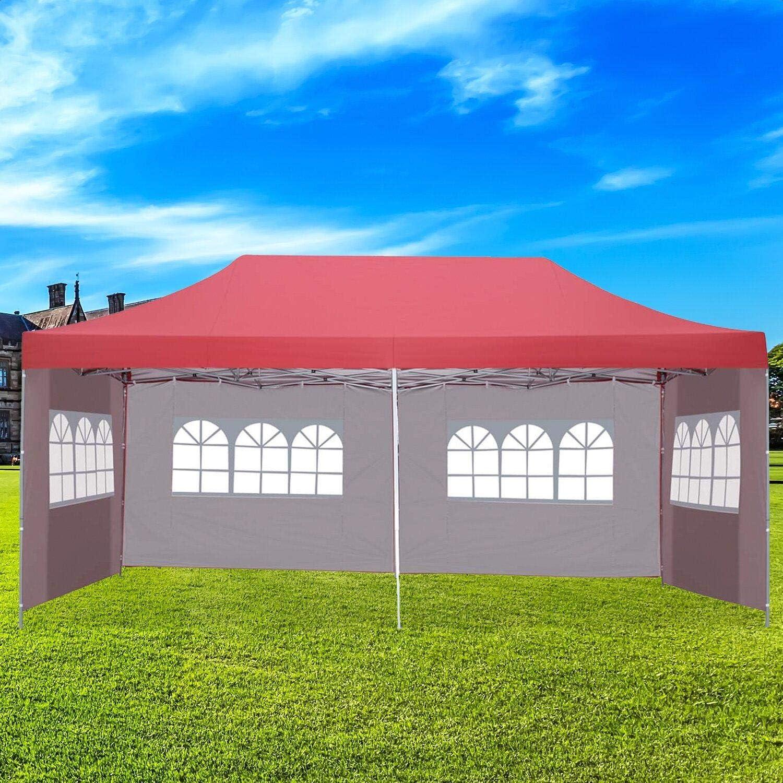 Amazon Com 10 Ft W X 20 Ft D Steel Party Tent Canopy Garden Outdoor