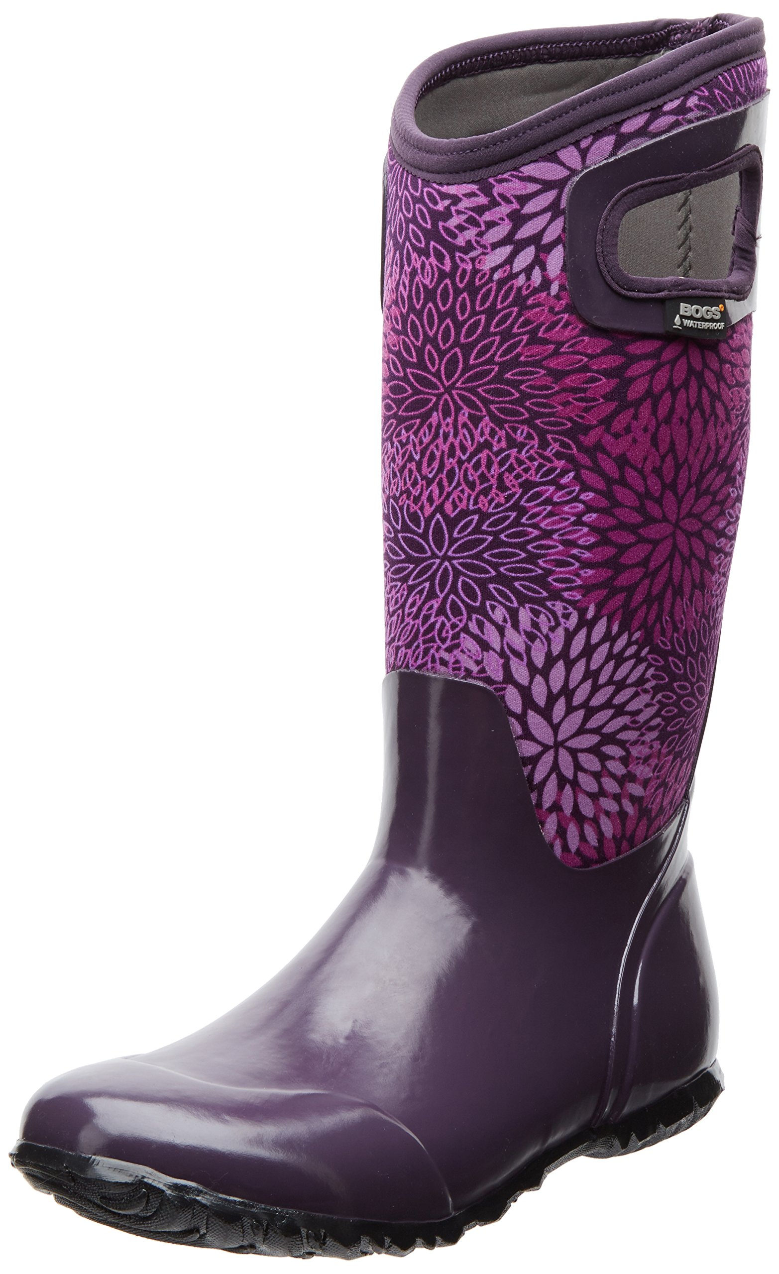 Bogs Women's North Hampton Floral Rain Boot,Plum,7 M US