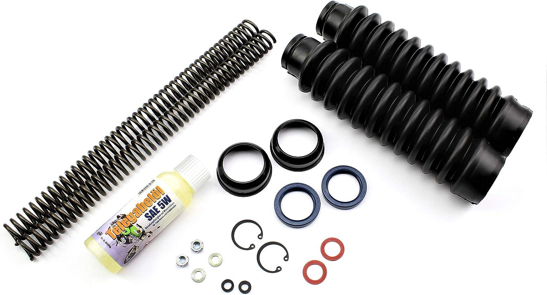 Set Telegabel Reparaturset Mit 3 2 Mm Druckfeder Faltenbalg Öl Kleinteile Für Simson S50 S51 S70 Auto