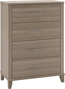 Bush Furniture Somerset Chest of Drawers in Ash Gray