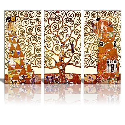 Amazon.com: Wall26® Tree Of Life Canvas Print By Gustav Klimt|3 ...