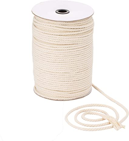 Macrame Cord 5mm 15 Natural Cotton Macrame Cotton Cord Bulky Yarn Braided Cord for Natural cotton cord Macrame rope Cotton rope