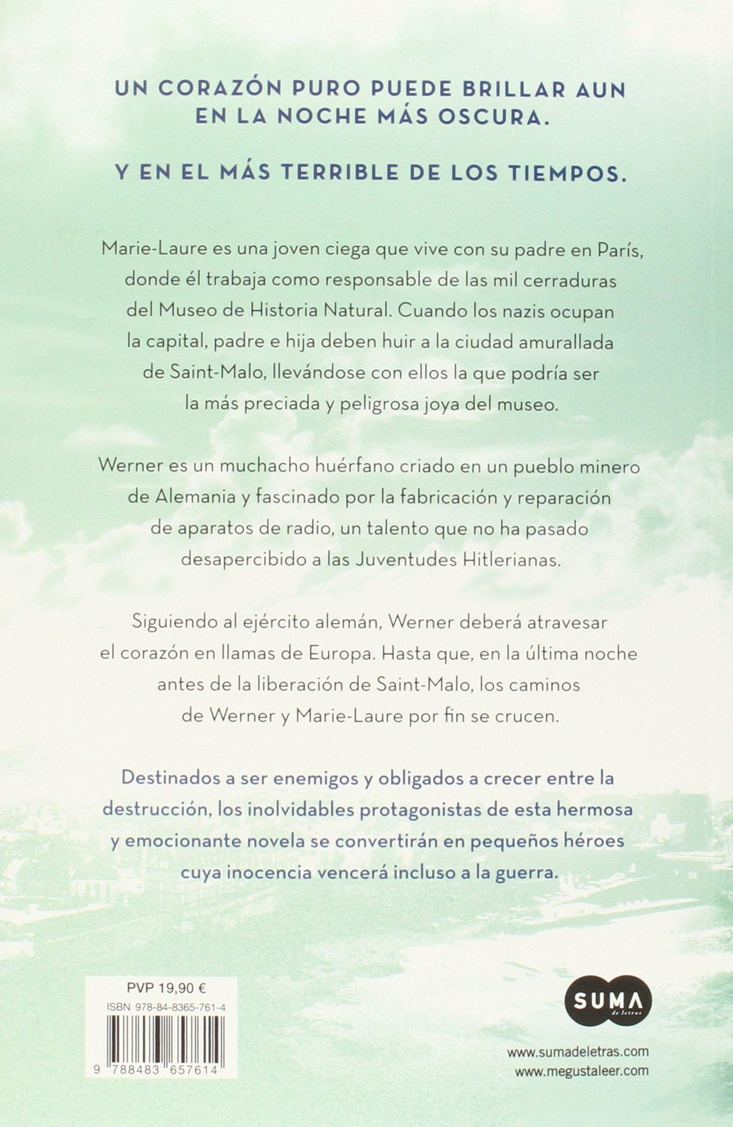 La luz que no puedes ver (FUERA DE COLECCION SUMA.): Amazon.es: Anthony  Doerr, CARMEN M.; BARBA MUÑIZ ANDRES;CÁCERES: Libros