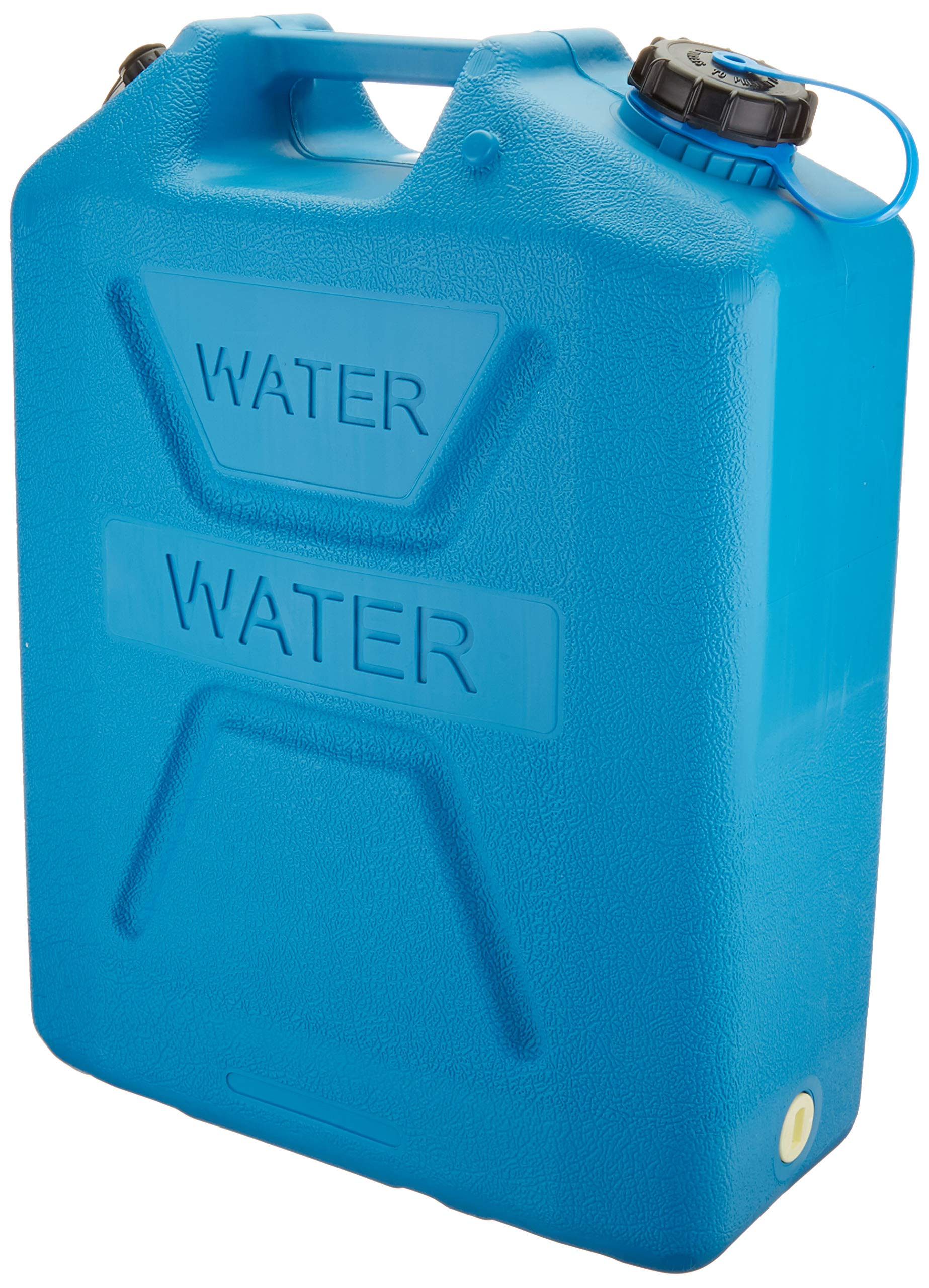 Wavian USA 3216 5 Gallon Dring Water Can with Spout UV Stabilized BPA Free Textured Military Grade Heavy Duty Anti Bacterial Resin Made in Australia (Blue) by Wavian USA