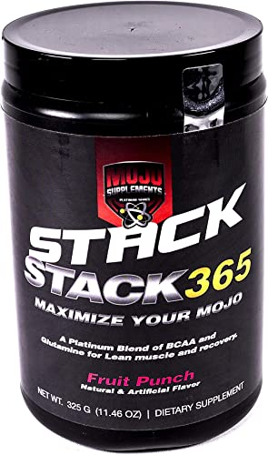 Stack 365 – BCAA Energy – High Performance Amino Acid Supplement for Energy, Muscle Building, Recovery and Endurance, Pre Workout, Post Workout – Fruit Punch 50 Servings