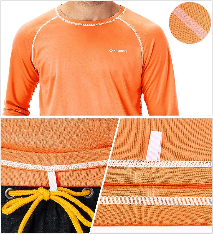 Naviskin Mens Long Sleeve Rash Guard Swim Shirt UPF 50 UV Sun Protection Quick Dry Outdoor Shirt