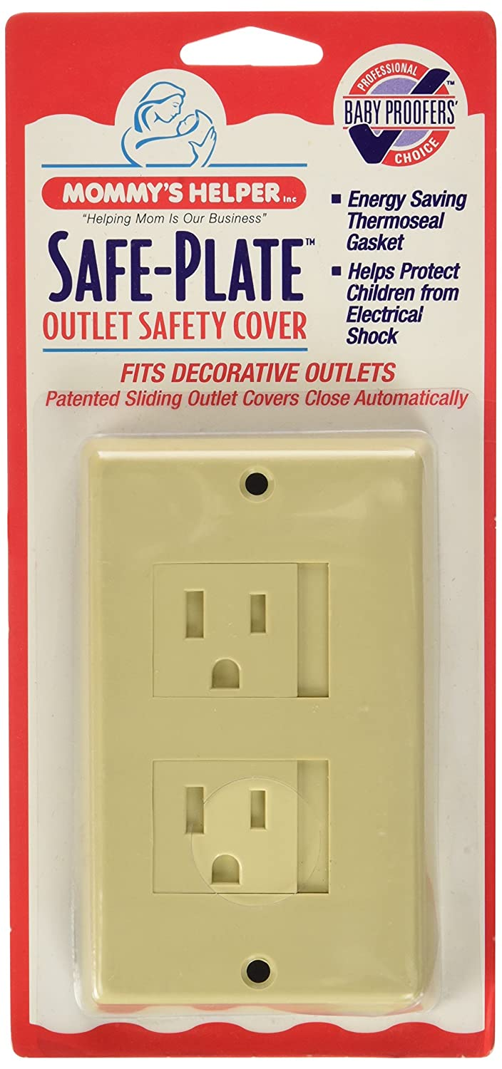 Mommy's Helper Safe Plate Electrical Outlet Cover, Almond, Decora, 1-Pack Mommys Helper Inc 0891