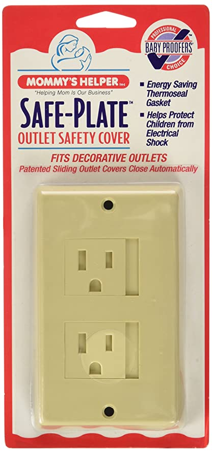 mommys helper safe plate electrical outlet covers decora almond