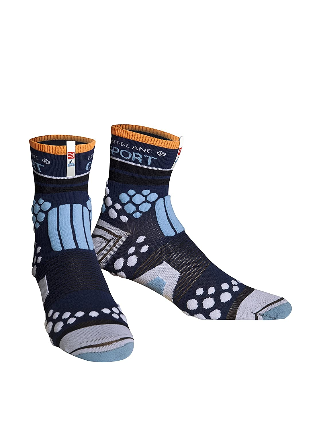 Compressport Calcetines Limited Edition Azul EU 43-45 (T4): Amazon.es: Ropa y accesorios