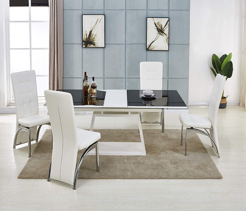 Modernique® - Mesa de comedor extensible con parte superior de ...