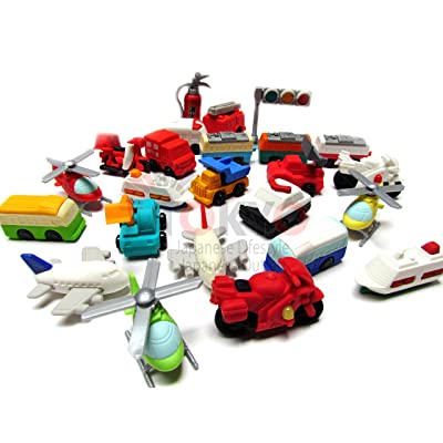10 Assorted Iwako Eraser - Vehicle Collection (Erasers will be randomly selected from the image shown): Office Products