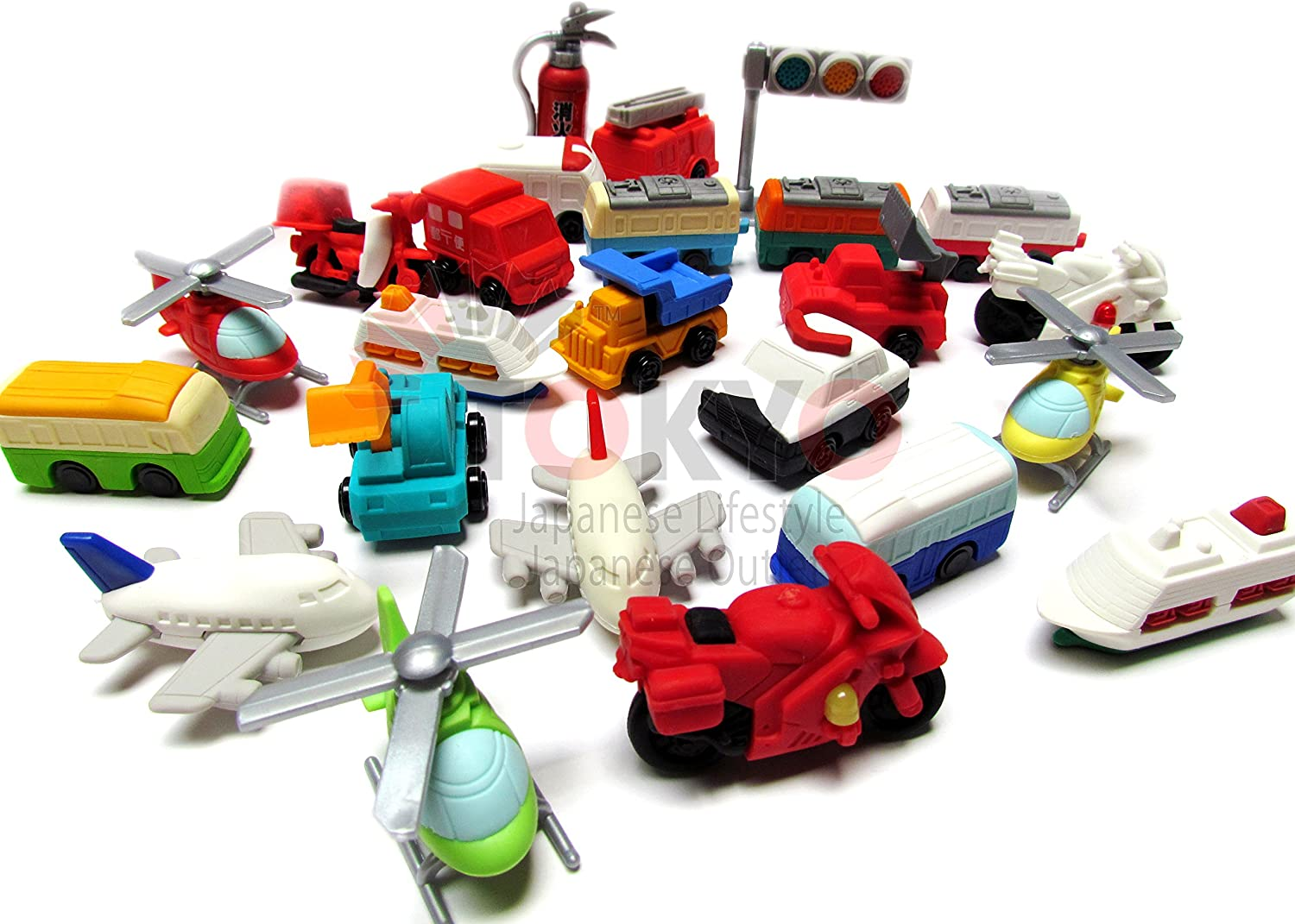 10 Assorted Iwako Eraser - Vehicle Collection (Erasers will be randomly selected from the image shown)