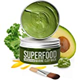 100% VEGAN Dead Sea Mud Mask with Avocado & Superfoods - 120ml/4 Oz Organic Face Mask for Acne - Dermatologically Tested Hydr