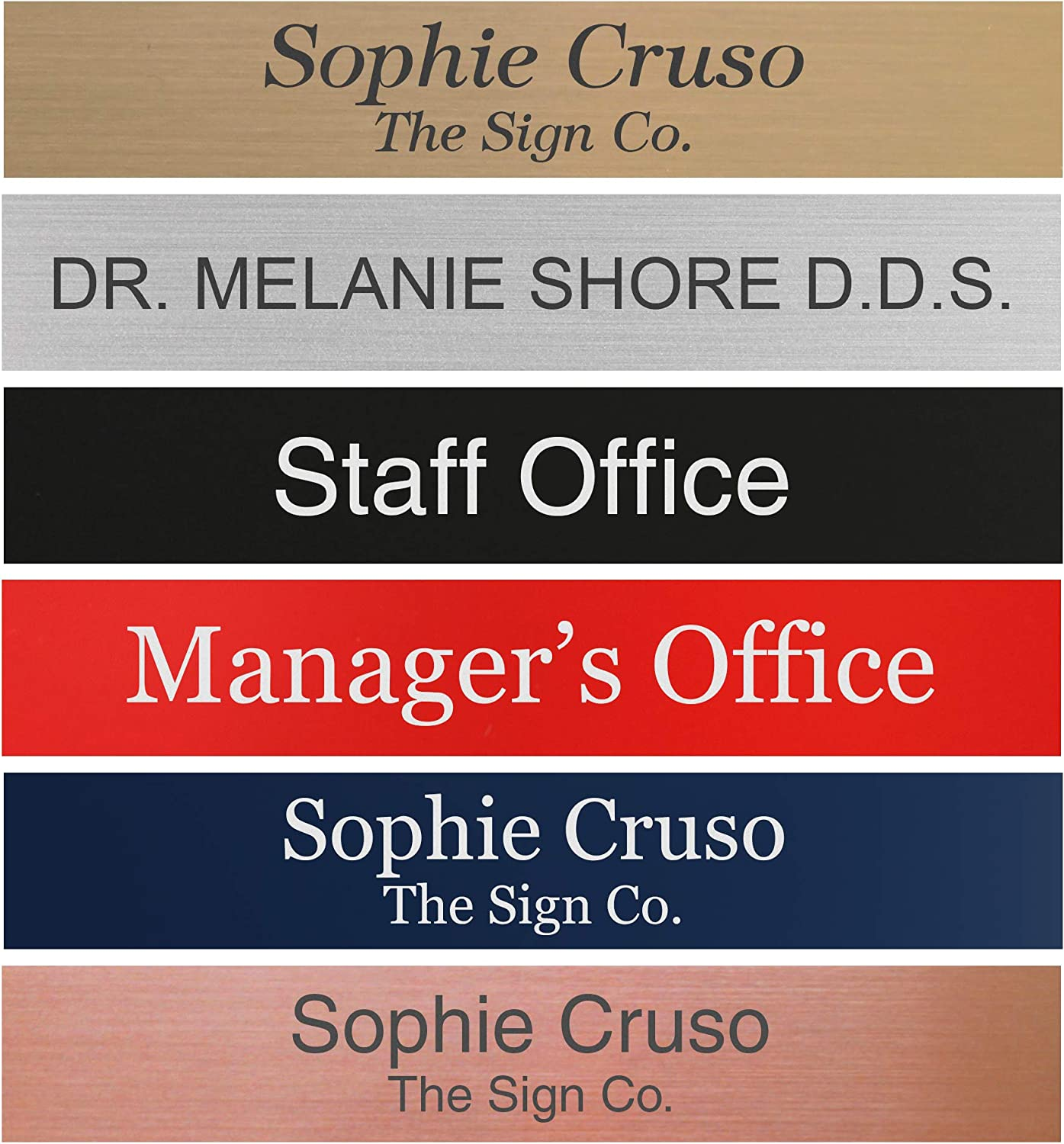 Personalized Name Plate Sign - 2x12 - Engraved - 24 Color Options - Customize