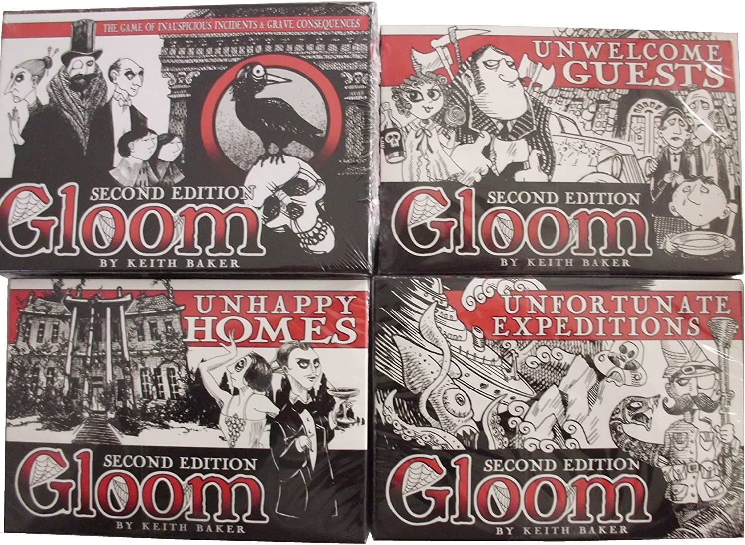Gloom 2nd Edition Card Game _ with three 2nd Edition Expansion ...