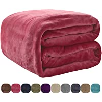 VEEYOO Luxury Flannel Fleece Blanket - Extra Soft Summer Cooling Warm Lightweight Bed Blanket, All Seasons Anti-Static Couch Blanket Travelling Camping Blanket