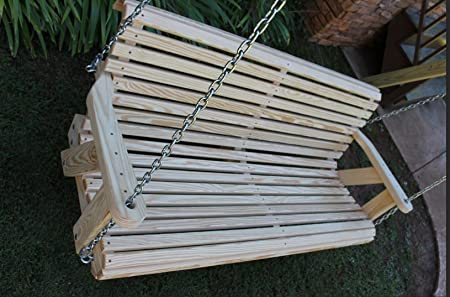 Ecommersify Inc ROLL BACK Amish Heavy Duty 800 Lb 4ft. Porch Swing- Made in USA