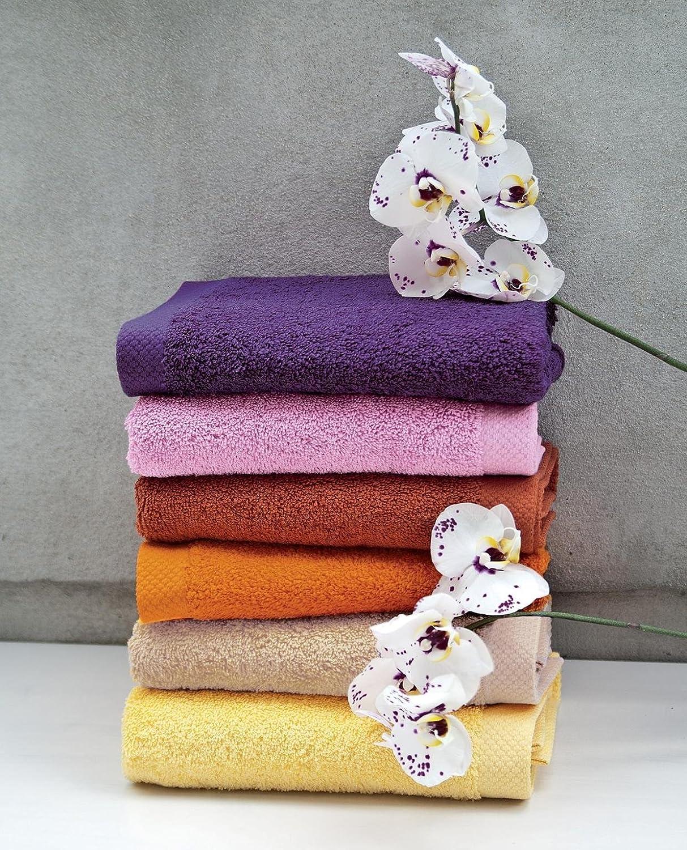 Lasa Pure - Juego de 3 toallas para tocador, 33 x 50 cm, lavabo, 50 x 100 cm y ducha, 70 x 140 cm, color azafrán: Amazon.es: Hogar