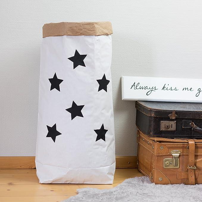 schwarz Paperbags Large weiss LEERGUT