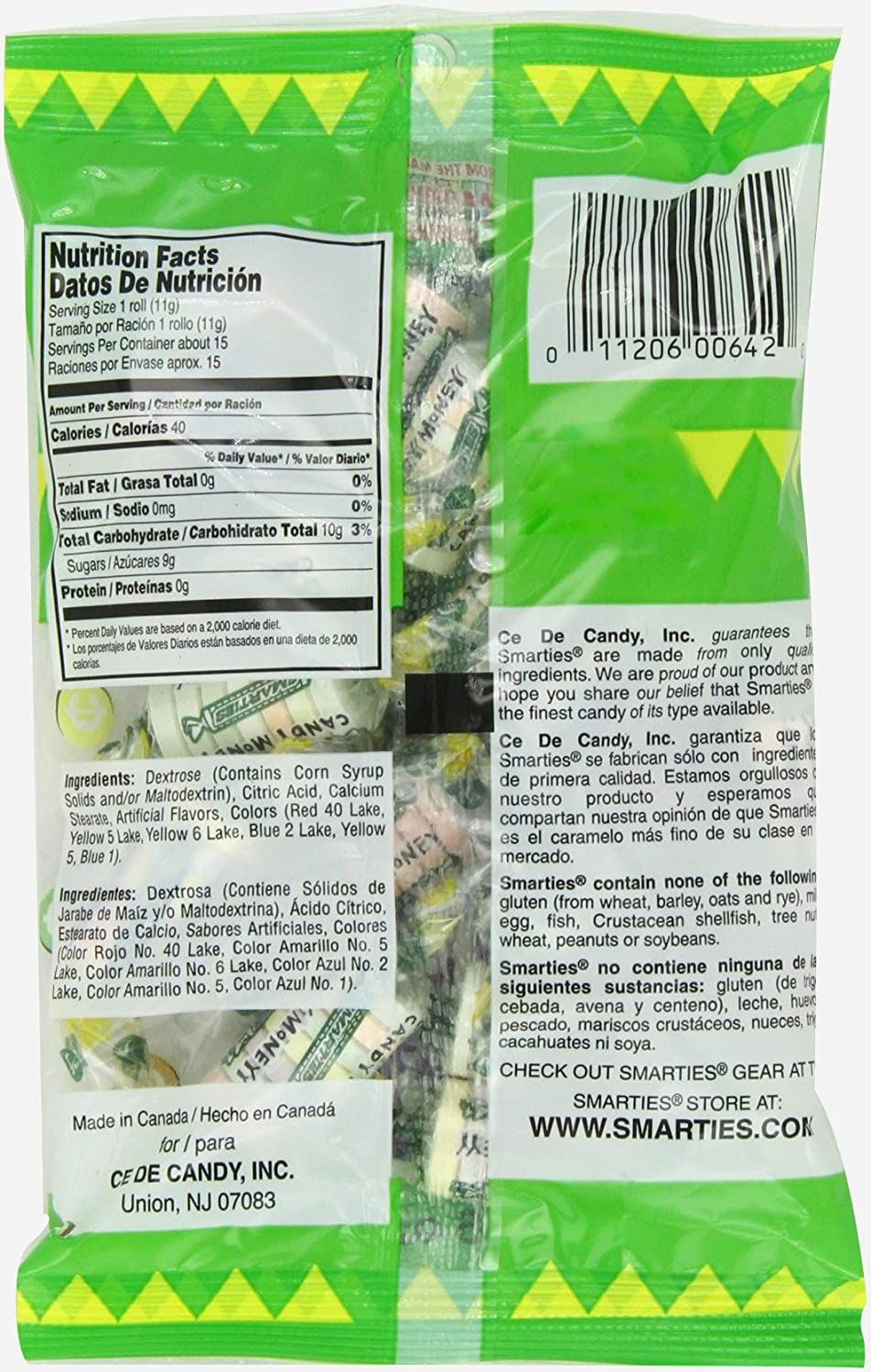 Amazon.com : Smarties Candy Money, 6 Ounce (Pack of 12) : Hard Candy : Grocery & Gourmet Food
