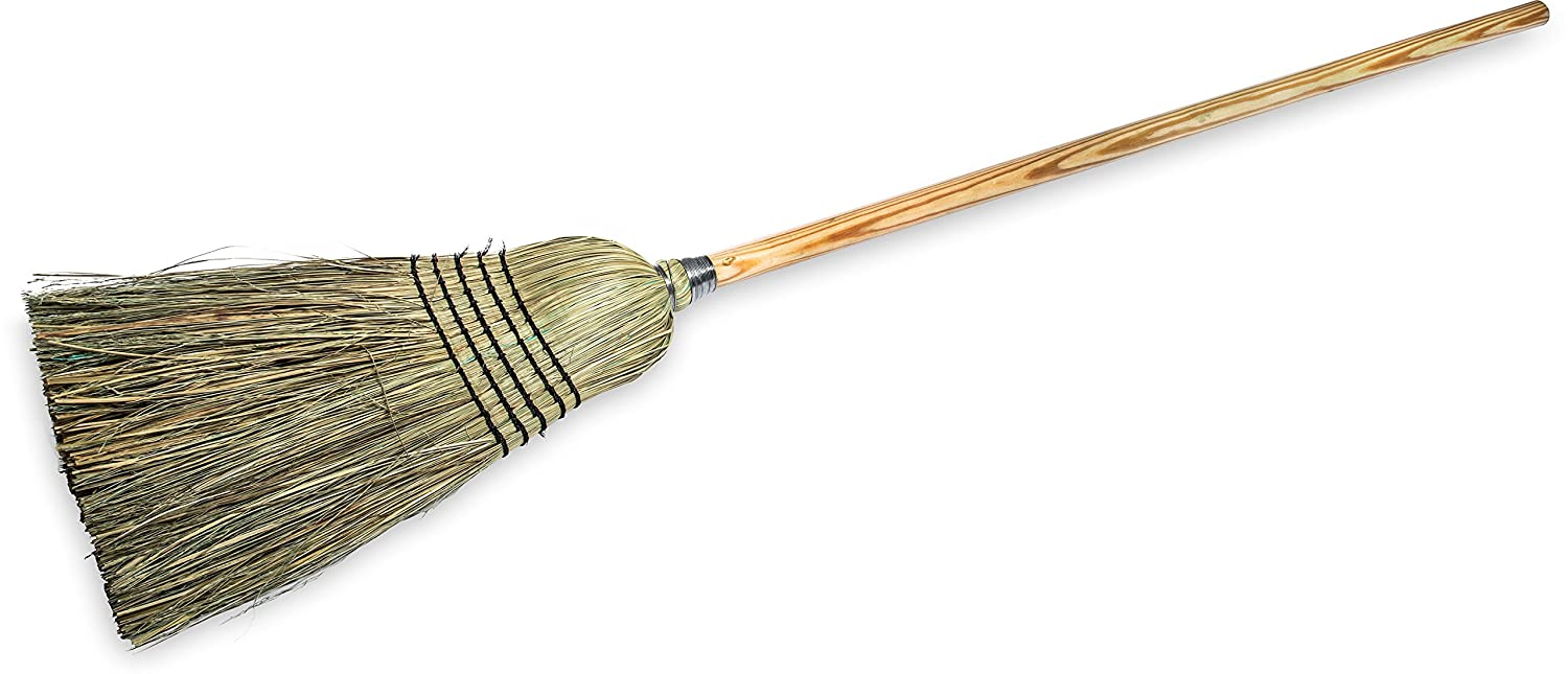 Carlisle 4135067 Commercial Corn Broom with Solid Wood Handle, 12' Wide 12 Wide Carlisle Foodservice