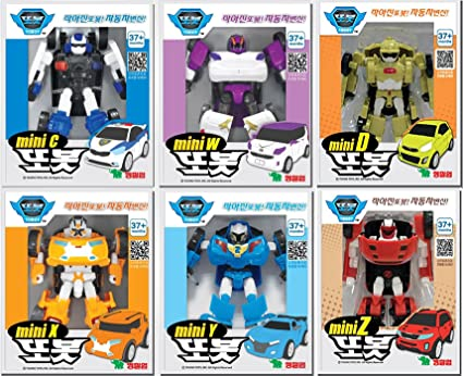 Amazon Com Tobot Mini C D W X Y Z 6 Type Set Transformer Korean