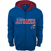 NCAA Kansas Jayhawks Boys Stated Full Zip Hoodie, Large (14-16), Collegiate Royal