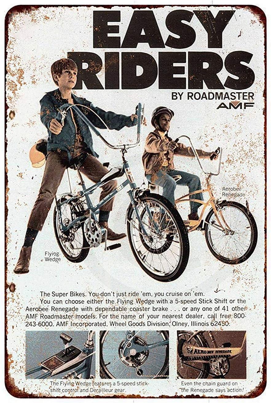 Qui556 Letrero de Metal 1970 Roadmaster Bicicletas Vintage Look ...