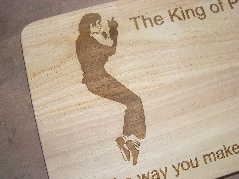 Michael Jackson regalo alfombrilla de corte para cortar de madera