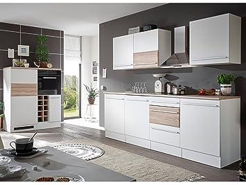 moebel-eins Bary Küche, Material Dekorspanplatte, Weiss matt ...