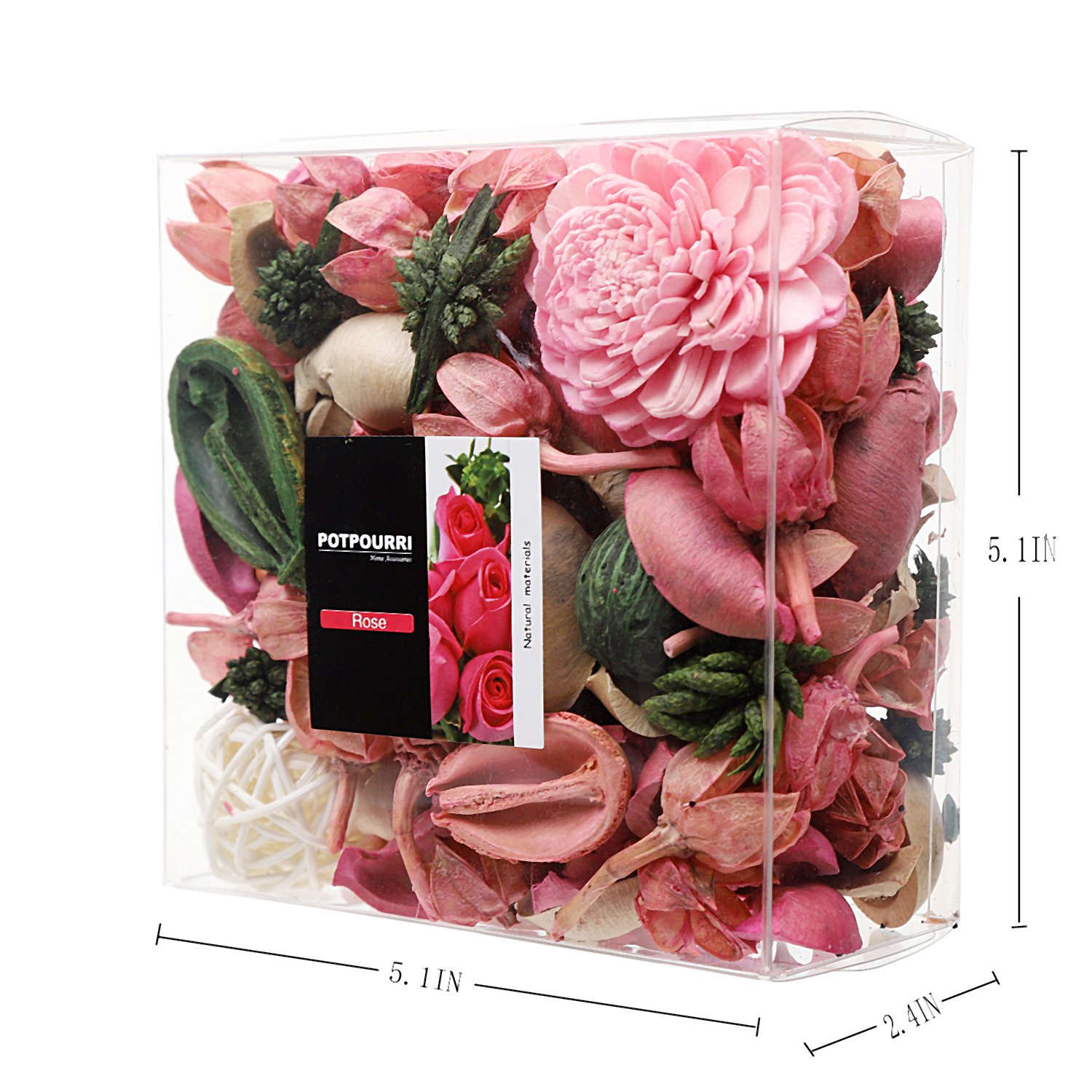 Amazon.com: Qingbei Rina Gifts,Pink Rose scent Potpourri Bag ...