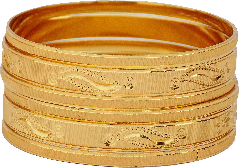 Indian Ethnic Bangles Jewelry Bollywood Gold Plated Bracelet 12pc Bangles Set