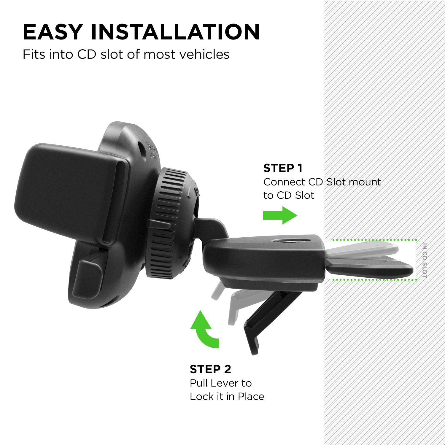 iOttie Easy One Touch 4 CD Slot Car Mount Phone Holder for iPhone X 8 Plus 7 Samsung Galaxy S9 S8 Edge S7 Note 8 & Other Smartphone by iOttie (Image #3)