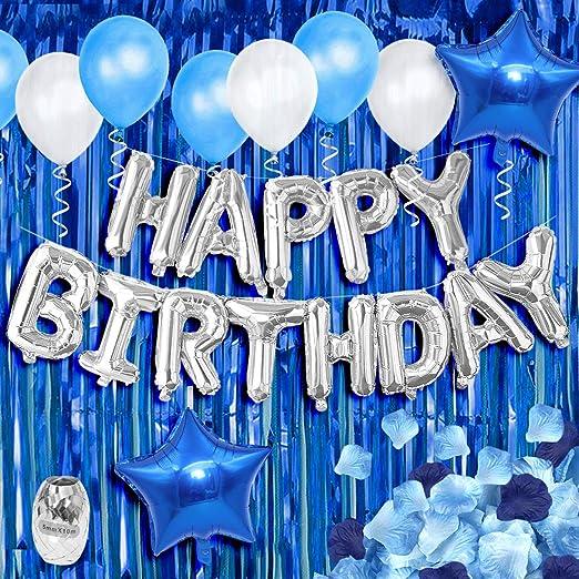 KREATWOW Decoraciones de la Fiesta de cumpleaños Azul Telón ...