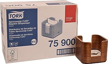 Tork 75900 Image Xpressnap Café Napkin Dispenser, Wood, 4.6