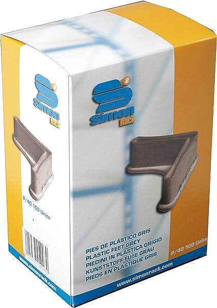 Simonrack 90130000011 Caja de 100 pies de plástico para estantería, P/40, Color, Gris oscuro: Amazon.es: Bricolaje y herramientas