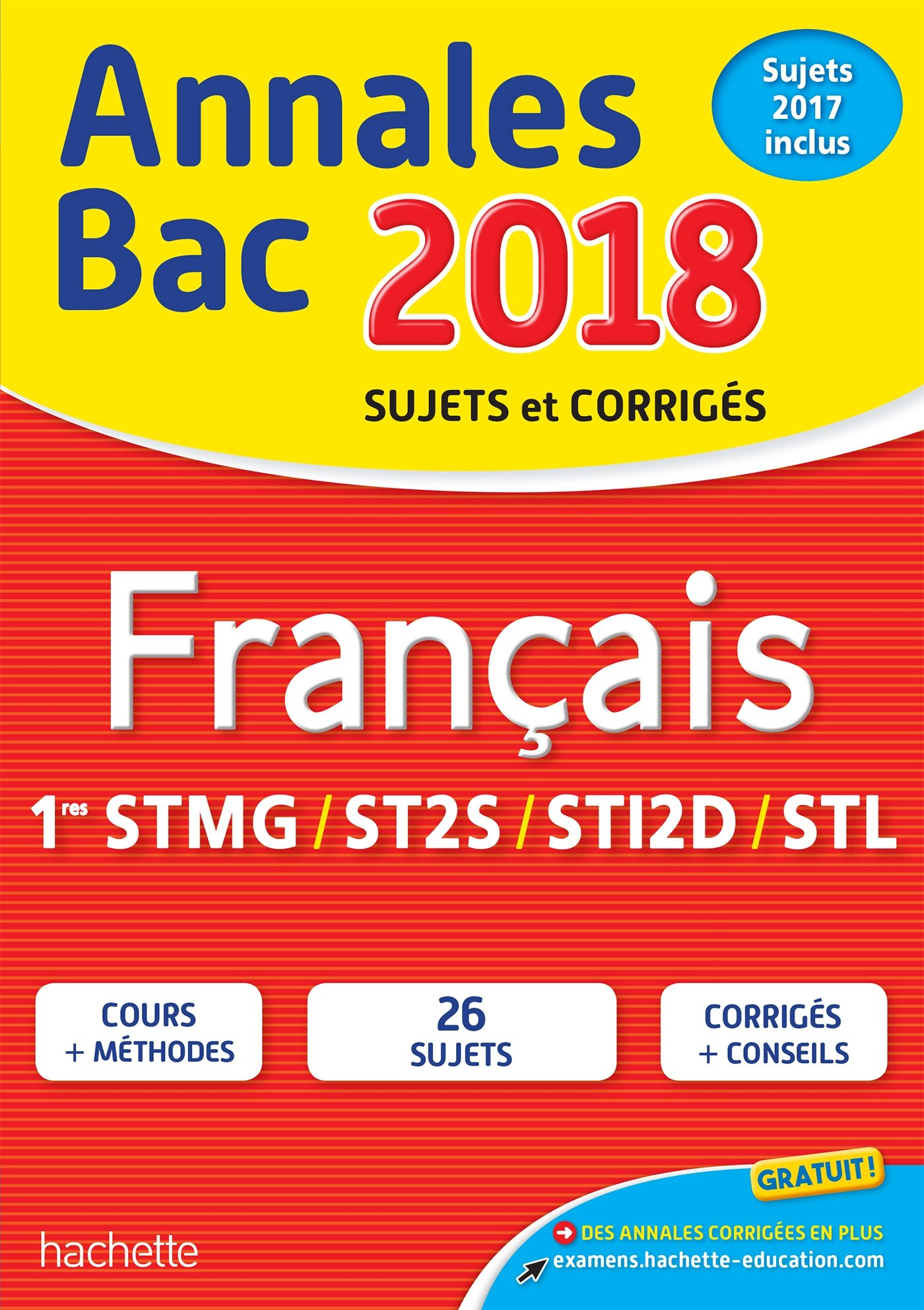 Annales Bac 2018 Français 1ères Techno (French) Paperback