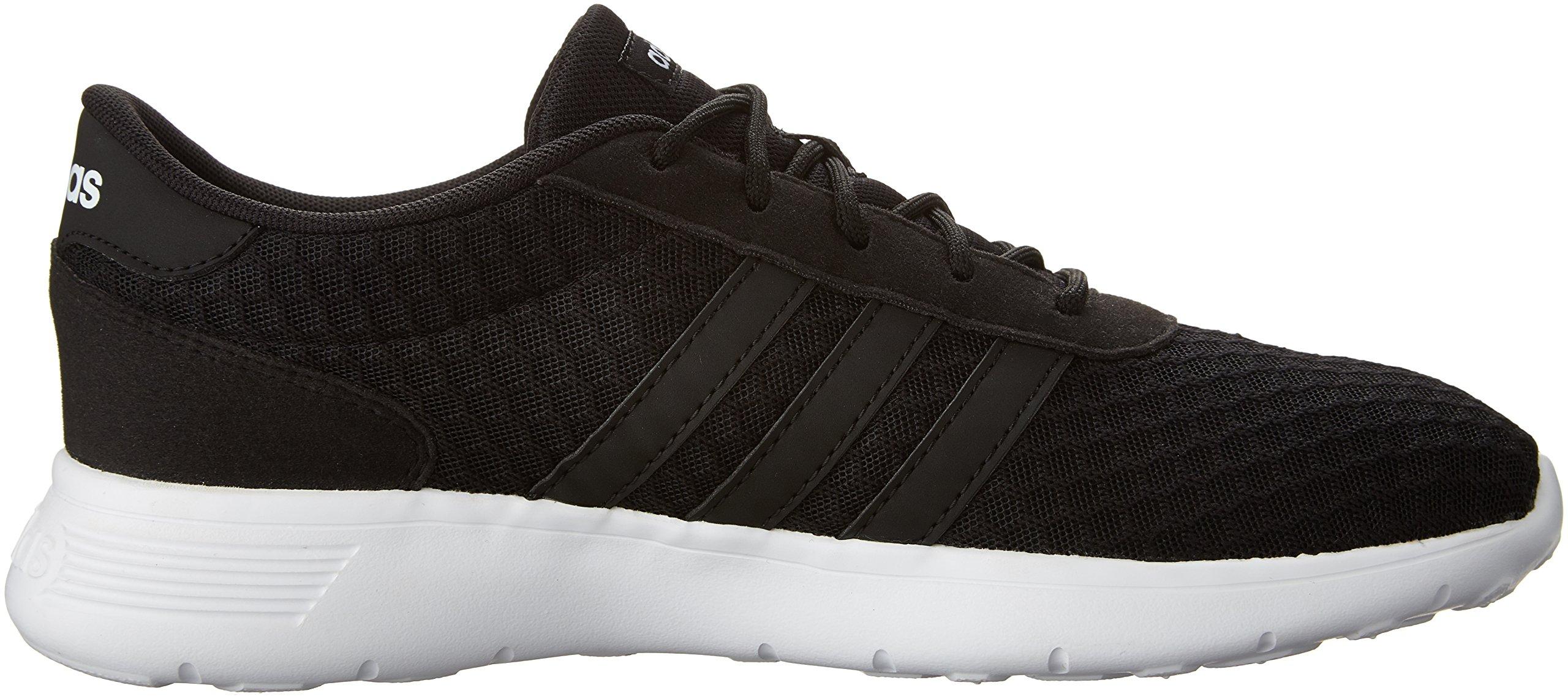 adidas Women's Lite Racer W Sneaker, Black/White, 8.5 M US by adidas (Image #7)