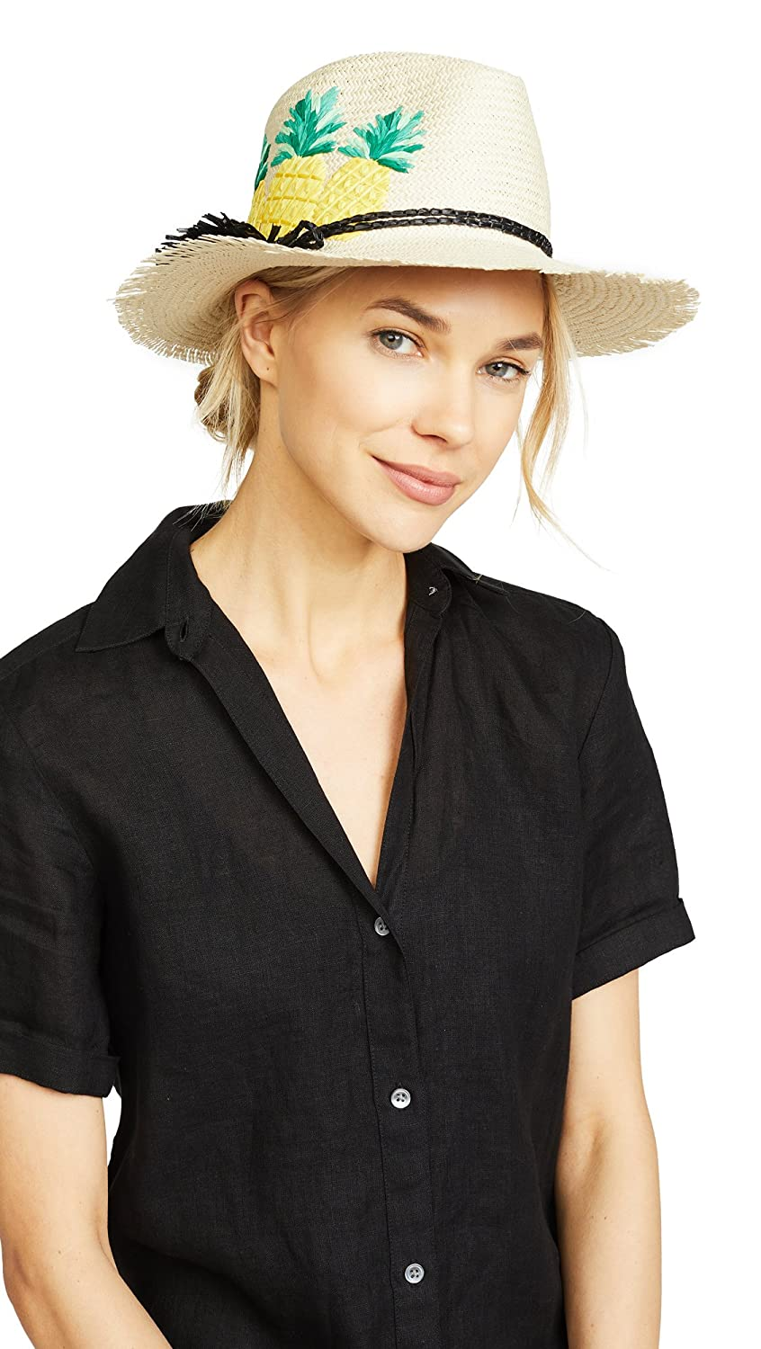 Kate Spade New York Women's Pineapple Trilby Hat Natural One Size