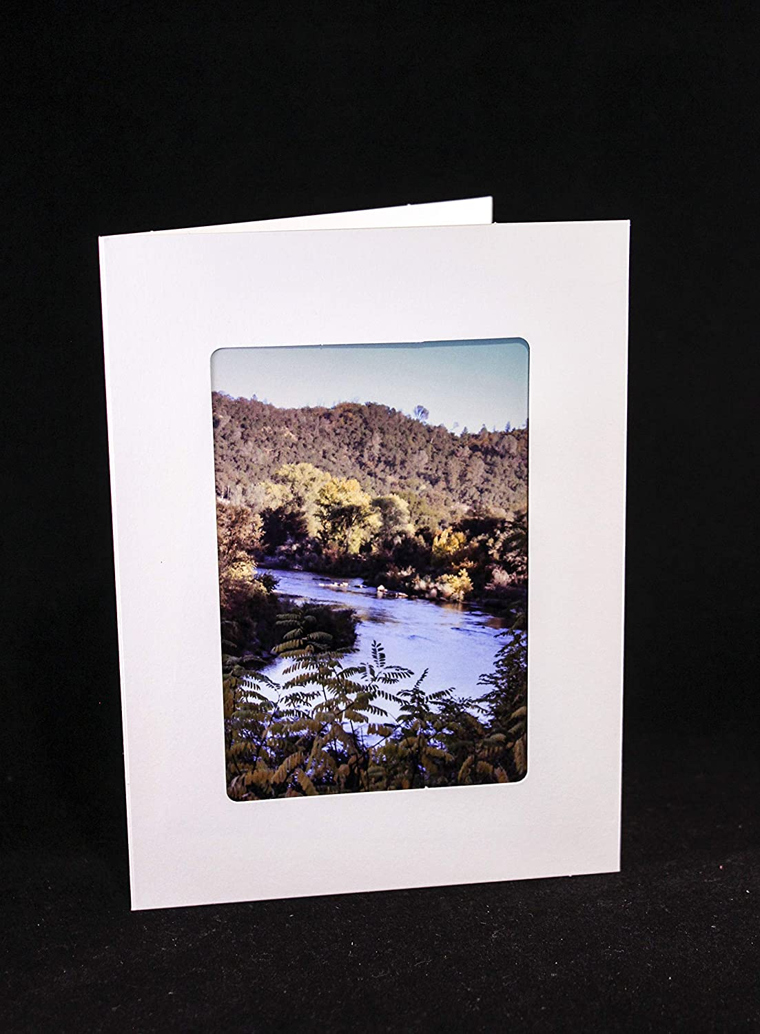 Nature photograph greeting card river theme