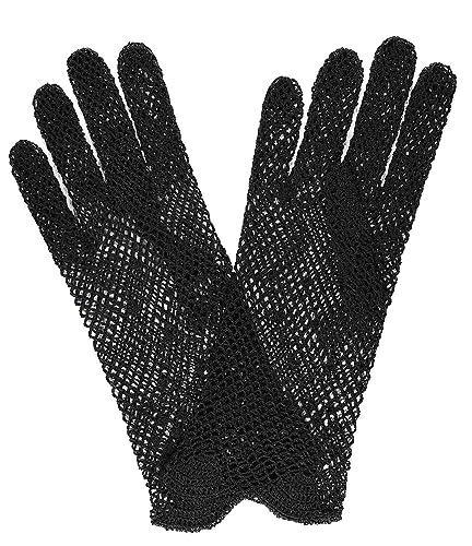 Madame Dutilleul – guanti di pizzo gancio nero