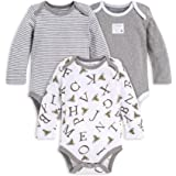 Burt's Bees Baby Baby Bodysuits, 3-Pack Long & Short-Sleeve One-Pieces, 100% Organic Cotton